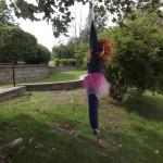 Flying through the air!