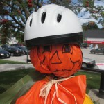 Helmet ready for cycling