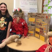 Dana Tulloch won the Ontario Library Research Award during the Grey Roots Heritage Fair on April 20 for her presentation on the history of the award-winning Meaford Scarecrow Invasion and Family Festival.